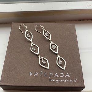 W2779 Silpada Girls Best Friend sterling earrings